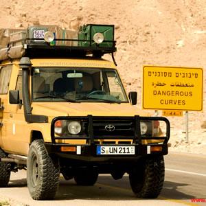 Driving through Holy Land