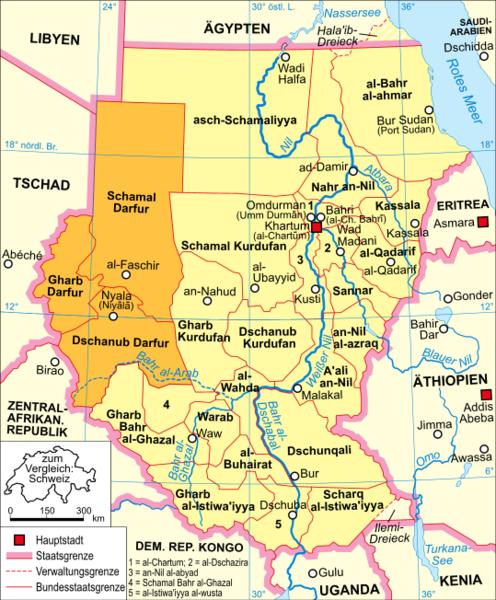 Grenze Tschad Sudan