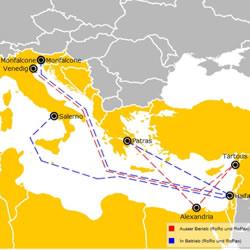 Fähre Europa – Afrika Ostroute