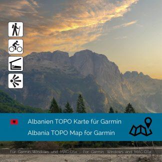 Albanien TOPO Karte für Garmin