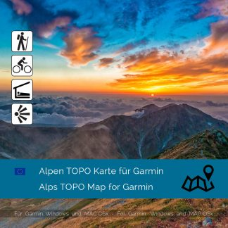 Alpen TOPO Garmin Karte Download