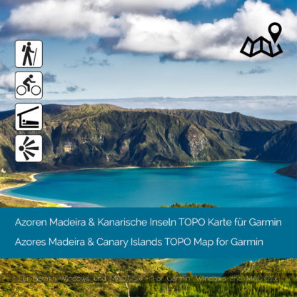Azoren Madeira & Kanarische Inseln Garmin Karte