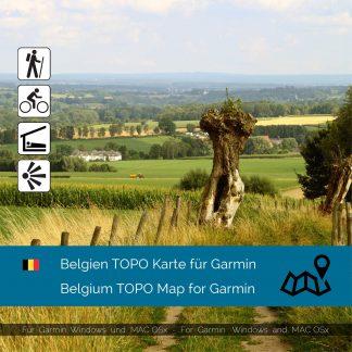 Belgien TOPO Garmin Karte Download