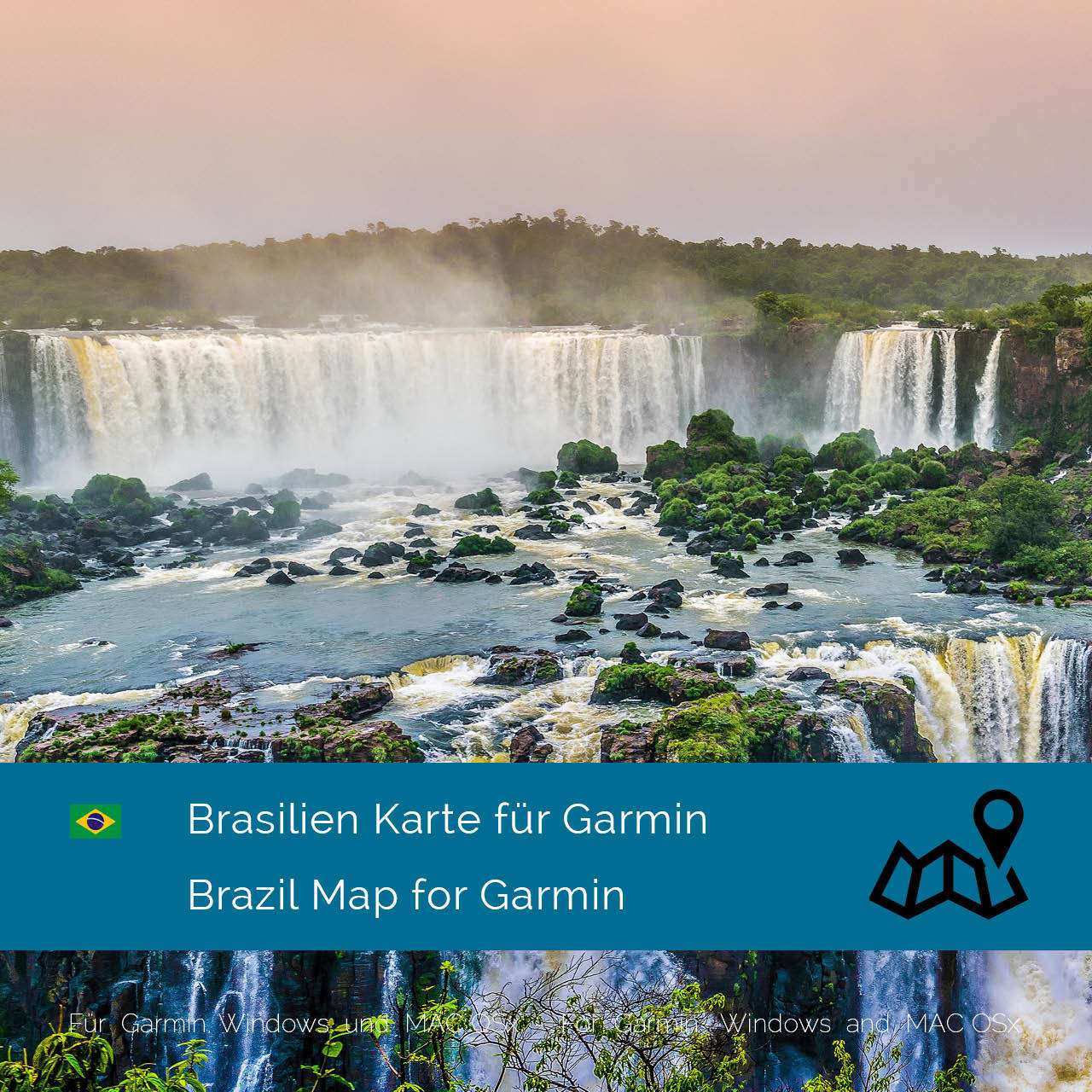 garmin brasilien karte Brasilien Karte für Garmin jetzt online im Shop als Download kaufen!