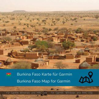 Burkina Faso Karte für Garmin jetzt online im Shop als Download kaufen!