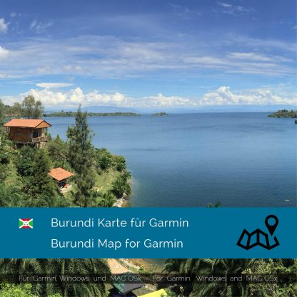 Burundi Karte für Garmin jetzt online im Shop als Download kaufen!