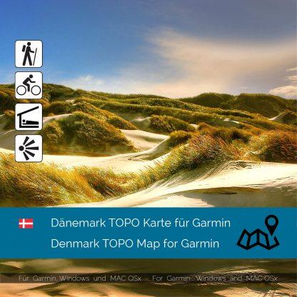 Dänemark TOPO Karte für Garmin