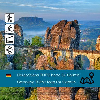 Deutschland TOPO Garmin Karte Download