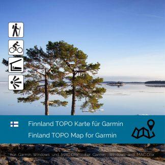 Finnland TOPO Karte für Garmin
