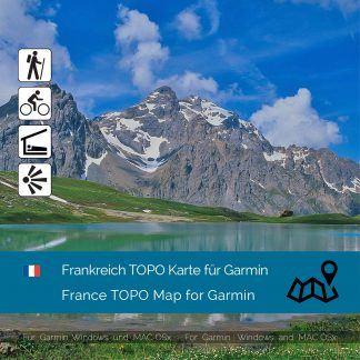 Frankreich TOPO Garmin Karte Download