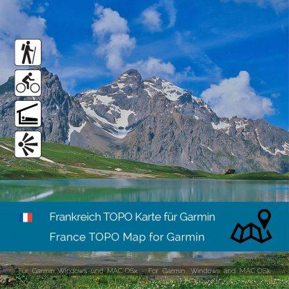 Frankreich TOPO Garmin Karte Download