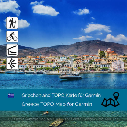 Griechenland Garmin Karte Topo