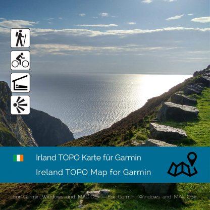 Irland TOPO Garmin Karte Download
