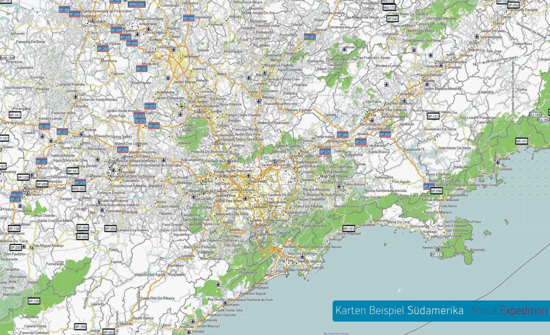 Kolumbien GPS Karte für Garmin