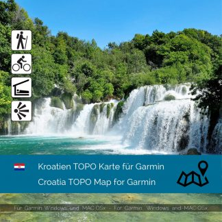 Kroatien TOPO Karte für Garmin Download