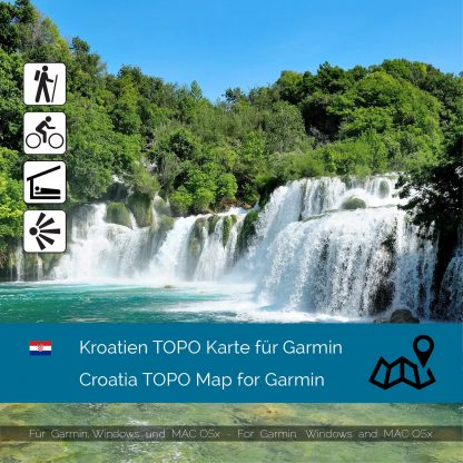 Kroatien TOPO Karte für Garmin Download