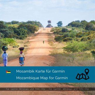 Mosambik GPS Karte für Garmin