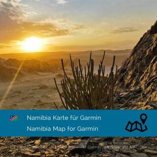Namibia Garmin Karte