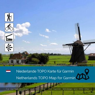 Niederlande TOPO Garmin Karte Download