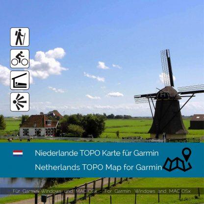 Niederlande TOPO Garmin Karte Download