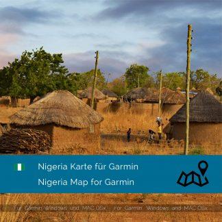 Nigeria GPS Karte für Garmin