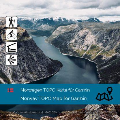 Norwegen TOPO Garmin Karte Download