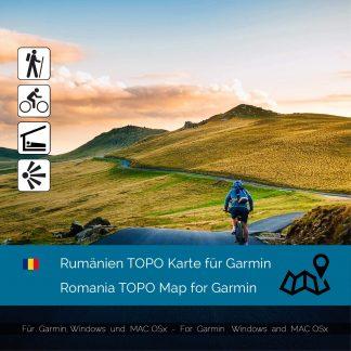 Rumänien TOPO Karte für Garmin