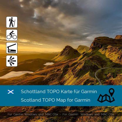 Scotland TOPO Karte für Garmin