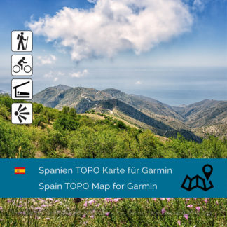 Spanien Garmin Topo Karte Download