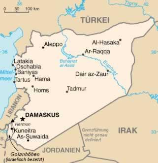 Grenzen Syrien geschlossen