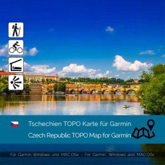 Tschechien TOPO Karte für Garmin