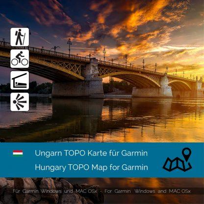 Ungarn TOPO Karte für Garmin Download