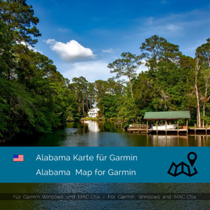 Alabama (USA) Garmin Karte Download