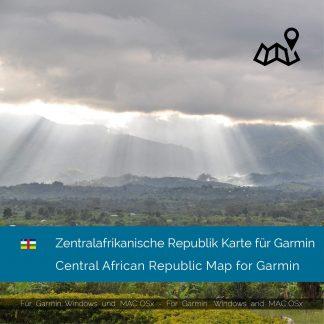 Zentralafrikanische Republik GPS Karte für Garmin